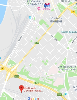 Location Of Belgrade Hostel M
